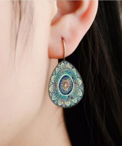 Bohemian retro time gemstone  earrings manufacturers wholesale Mixed batch yft-080