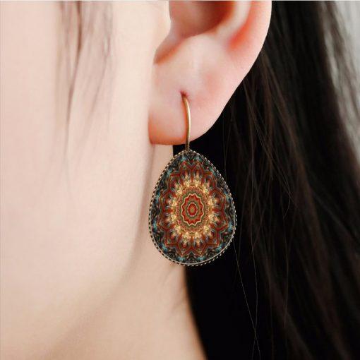 Bohemian retro time gemstone  earrings manufacturers wholesale Mixed batch yft-080