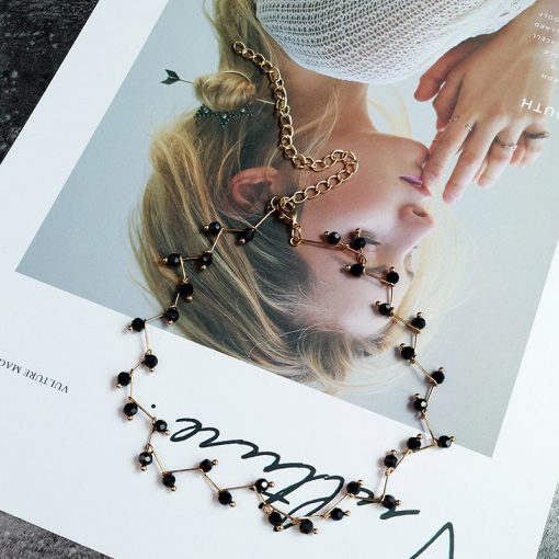 Imitation pearl clavicle chain female necklace simple short necklace YLX137