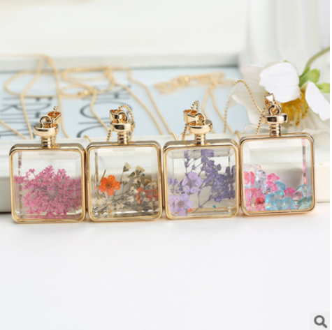 jewelry starry dried flower necklace plant dried flower pendant factory wholesale bouquet accessories Mixed batch YYH-004