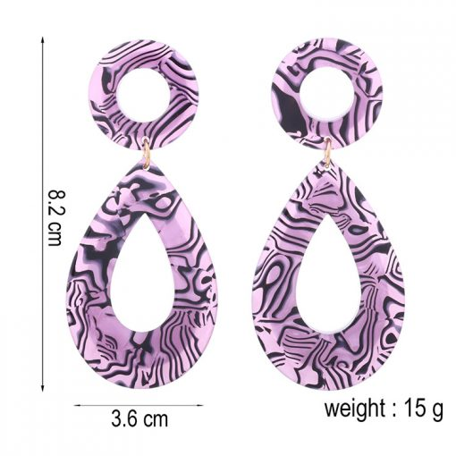 Acrylic painted earrings exaggerated drop-shaped earrings wholesale YNR-023