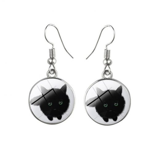 Cartoon Kitty Time Gemstone Earrings Mixed Batch yft-113