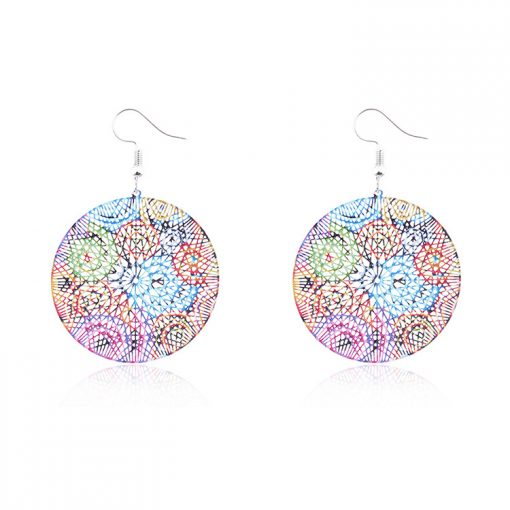 Popular paint painting national wind woman earrings wholesale YNR-033