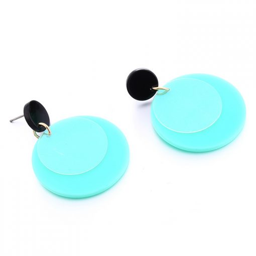 Korean style sequins refreshing acrylic girls earrings YNR-025
