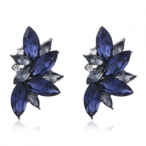 Colored rhinestone earrings popular earrings YNR-022