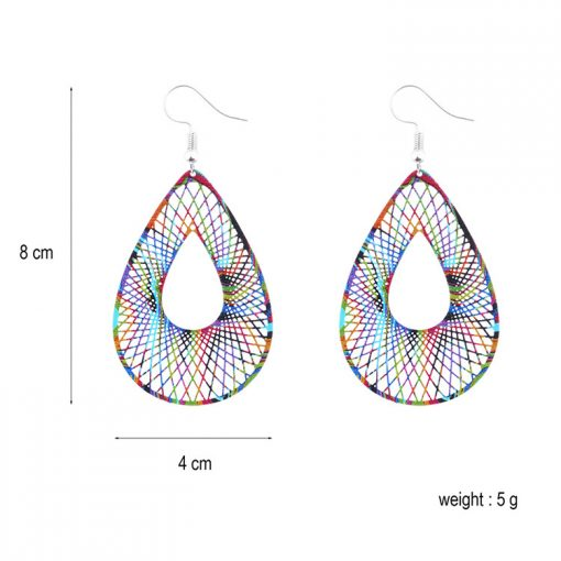 Personalized paint painted women National style earrings wholesale YNR-028