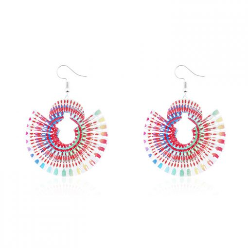 New paint painting National wind earrings wholesale YNR-038