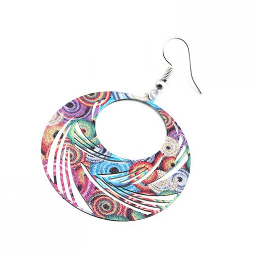 Fashion Painted Paint Ethnic Wind Earrings Wholesale YNR-030