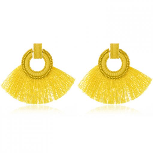 Hot fan type ladies tassel earrings YNR-039
