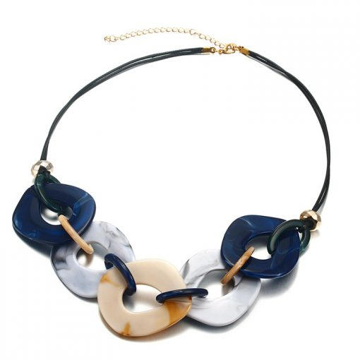 Acrylic Necklace Women Marble Original Necklace Cross-Border Accessories New YNR-015