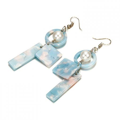 Environmentally friendly acetate board female geometric earrings YNR-027