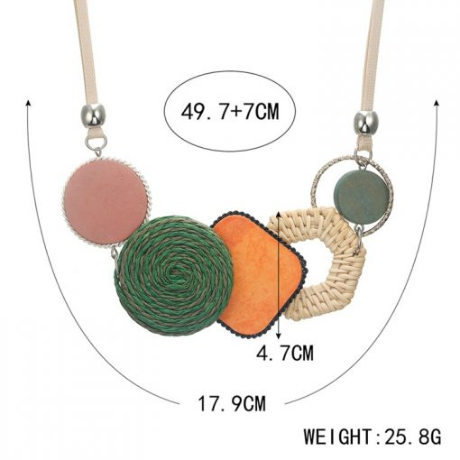 New bamboo weaving female pendant European and American popular necklace jewelry YNR-013