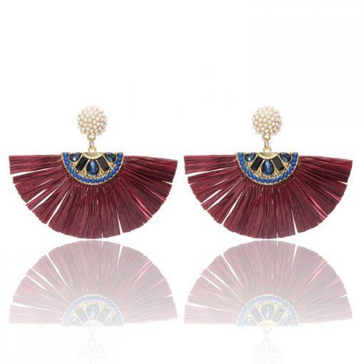 Lafite Grass Woman Tassel Earrings Fashion Jewelry YNR-026