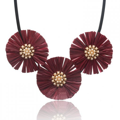Lafite grass pendant necklace ladies exaggerated new YNR-016