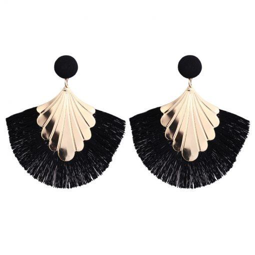 Women's new creative fashion tassel earrings trend jewelry factory direct YHY-012