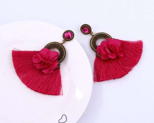 exclusive alloy flower tassel earrings set jewel retro star with ear accessories YLX-015