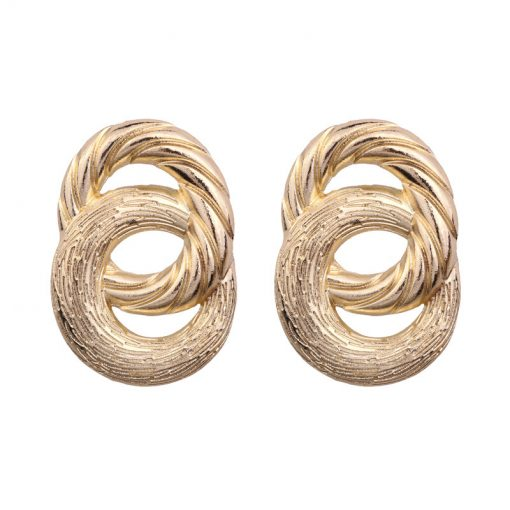New European and American style earrings jewelry Alloy 8 word painting plating earrings manufacturers wholesale YLX-057