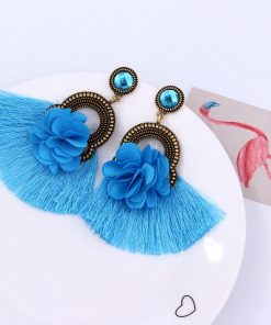 exclusive alloy flower tassel earrings set jewel retro star with ear accessories YLX-015