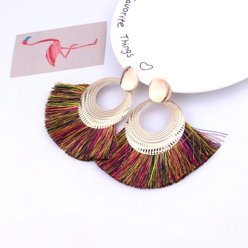 New tassel earrings European and American fashion personality accessories factory direct YLX-036