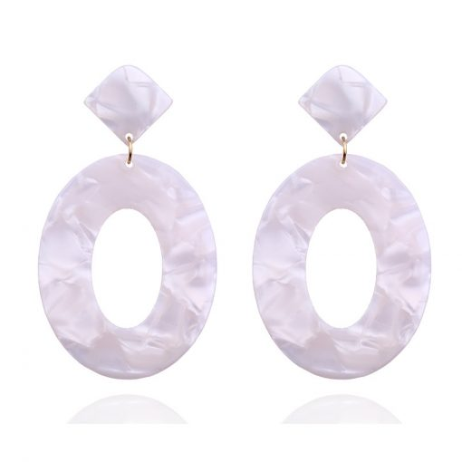Hot ladies earrings Acrylic acetate plate jewelry wholesale YLX-049