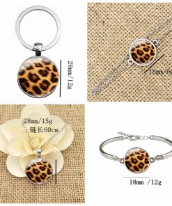 Leopard Time Gem Series French Ear Hook Keychain Bracelet YFT-039