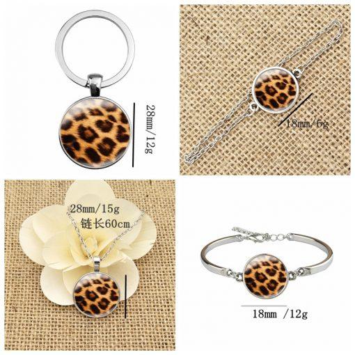 Leopard Time Gem Series French Ear Hook Keychain Bracelet YFT-039