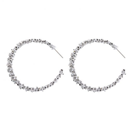 New hot Europe and America spiny personality circle big earrings jewelry YLX-085