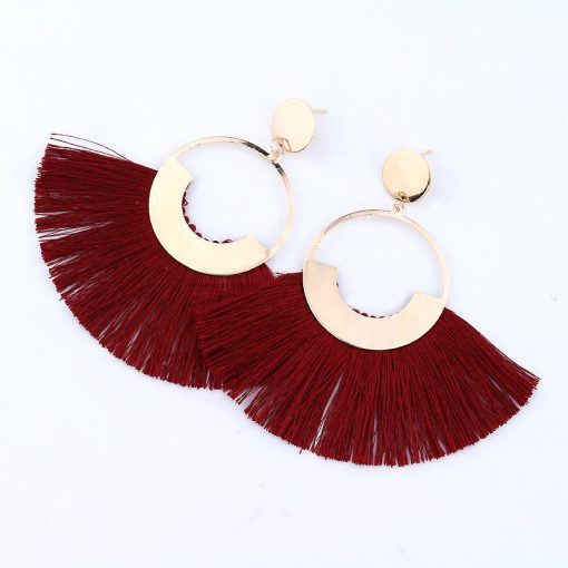 Bohemian fashion tassel earrings original exaggerated temperament earrings skirt tassel earrings YLX-069