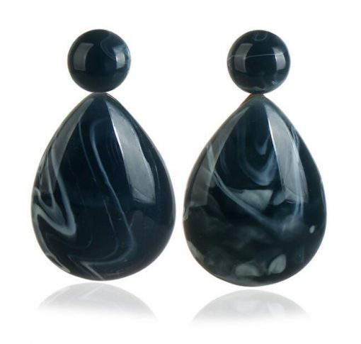 Ms. Exaggerated Resin Droplets Gemstone Earrings Fashion Boho YLX-081