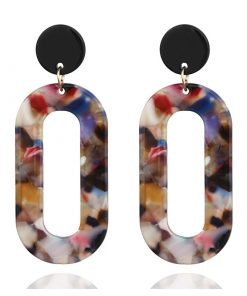 Acetate plate earrings personalized earrings European and American pin earrings YLX-027