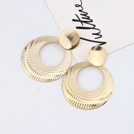 Europe and the United States cross-border jewelry Simple fashion wild earrings geometric round earrings wholesale has been slightly township -048