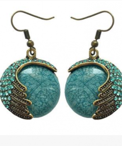 Vintage Bohemian Opal Earrings Handmade Ethnic Earrings Wholesale YFT-110