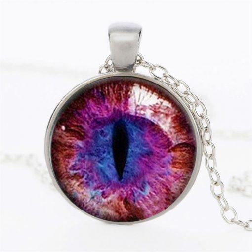Time Gemstone Eye Necklace Jewelry Pendant Wholesale YFT-134