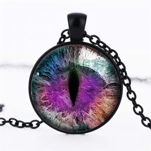 Time Gemstone Eye Necklace Jewelry Pendant Wholesale YFT-135