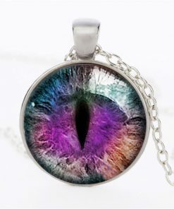 Time Gemstone Eye Necklace Jewelry Pendant Wholesale YFT-135