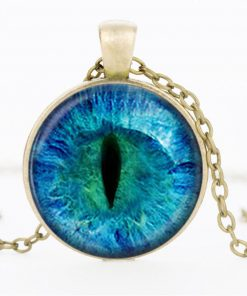 Time Gemstone Eye Necklace Jewelry Pendant Wholesale YFT-132
