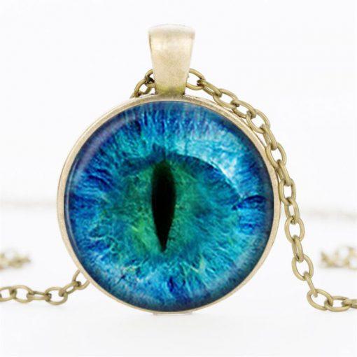 Time Gemstone Eye Necklace Jewelry Pendant Wholesale YFT-132