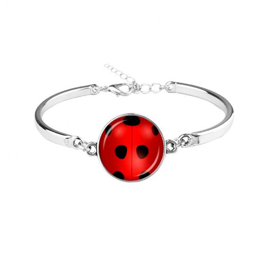 New hot seven-star ladybug lady  time gemstone necklace earrings earrings bracelet keychain YFT-139