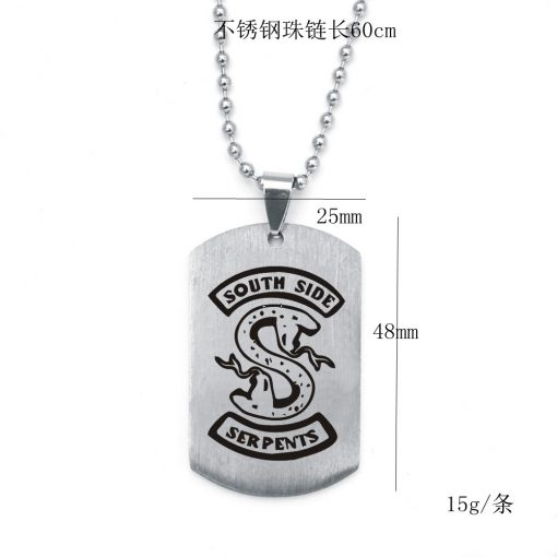Men River Valley Town Riverdale Time Gem Stainless necklace YFT-145