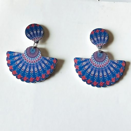 New African series painted popular wooden earrings SZAX-212