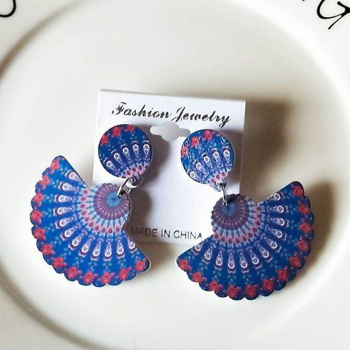 New African series painted popular wooden earrings SZAX-212