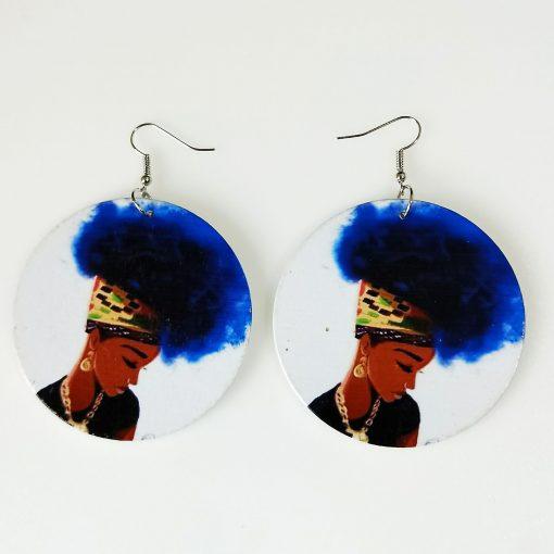 Popular African beauty fashion ultra light wood earrings SZAX-257