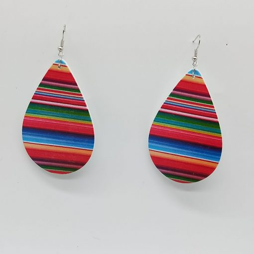 Women's popular new drop-shaped wooden earrings Mixed batch SZAX-219