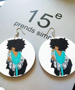 European and American popular African beauty fashion ultra light wood earrings SZAX-258
