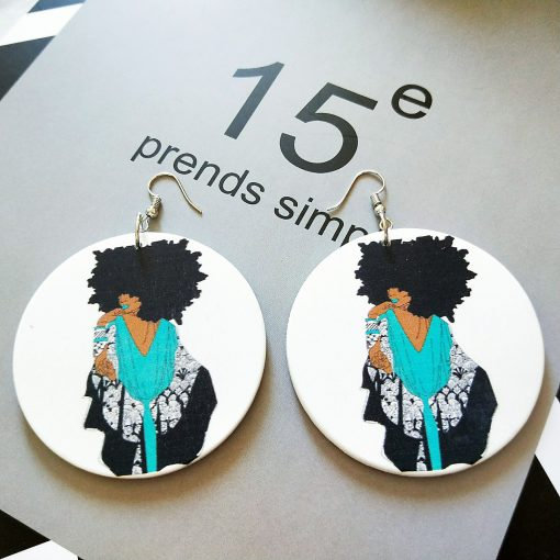 European and American popular African beauty fashion ultra light wood earrings SZAX-258