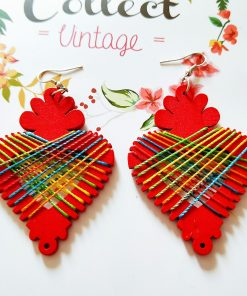 Korean simple retro wood winding radish wood earrings SZAX-234