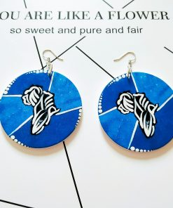 Popular new African series painted wooden earrings SZAX-214