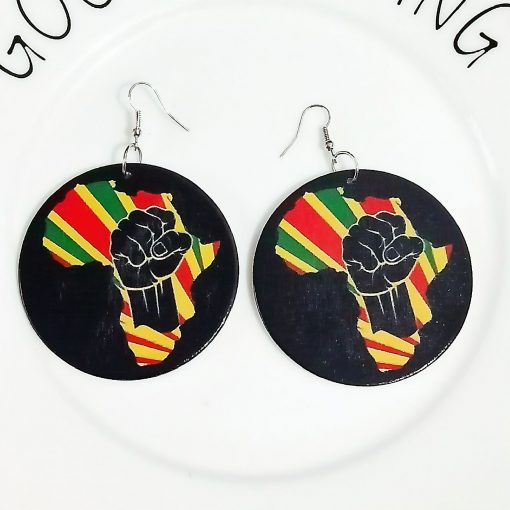 European and American popular wooden ultra light painted earrings ethnic style SZAX-282