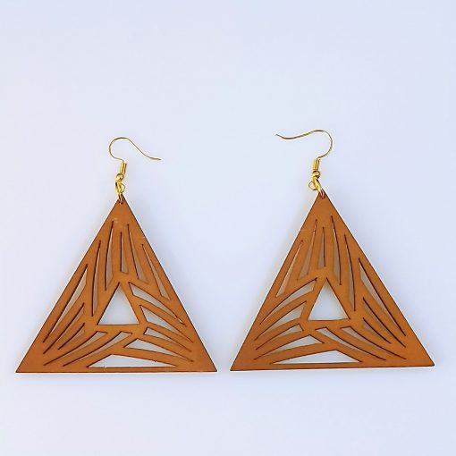 Europe and America exaggerated geometric round retro colored solid wood earrings mixed batch SZAX-277