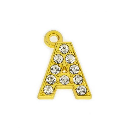 15mm gold hanging letters for pendants, bags, etc.